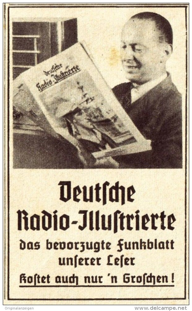 Original-Werbung / Anzeige 1938 - DEUTSCHE RADIO - ILLUSTRIERTE - ca. 45 x 75 mm