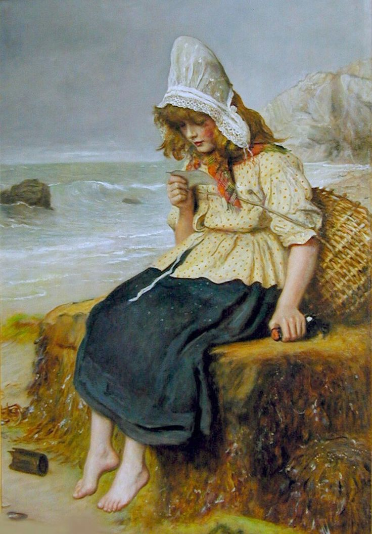 Message from the Sea by John Everett Millais (1829-1896)  oil on canvas, 19th century