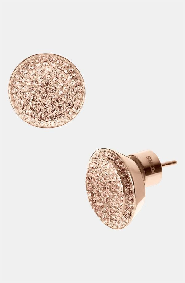 Oh so sparkly! Michael Kors crystal stud earrings.