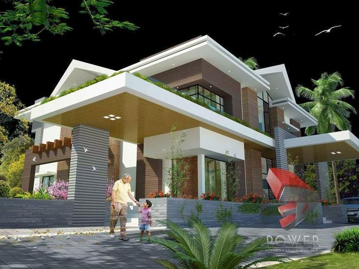 321 best house elevation modern sloping images on for Ultra modern house exterior designs