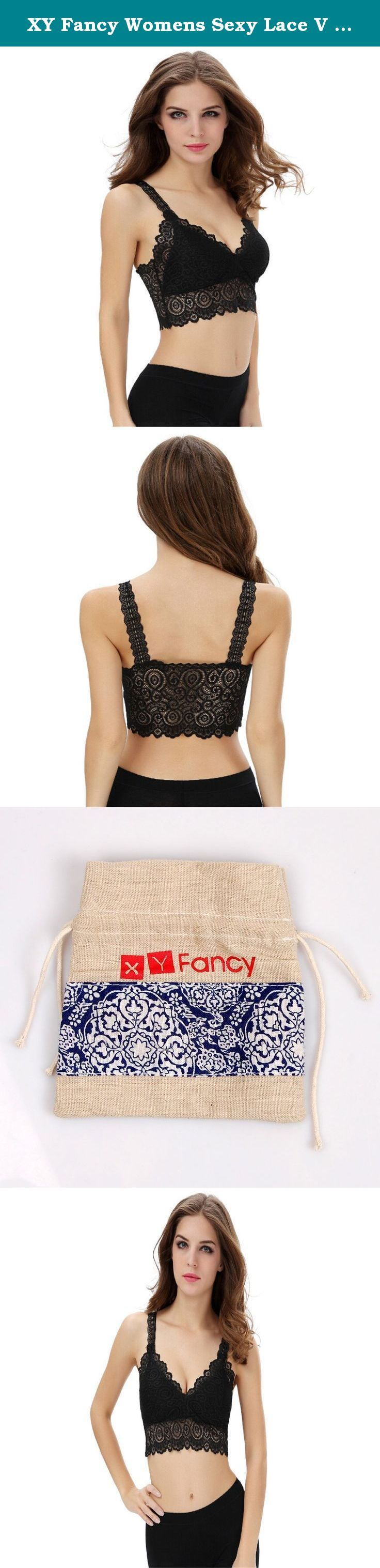 XY Fancy Womens Sexy Lace V Neck Bralette Tank Top Half Cami Sports Bra. This is a comfortable crop tops for summer, has excellent stretch, Sweat absorption and flash drying, Perfect to match any backless dresses.