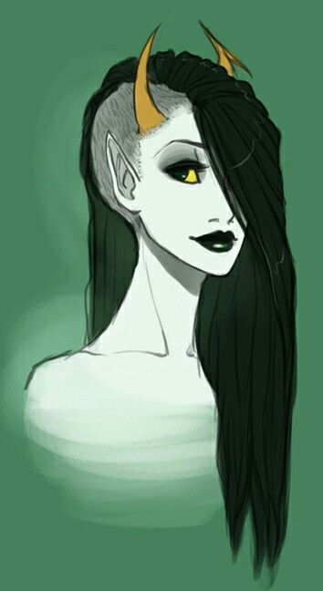 I don't know who this is, other than she might be from Homestuck. I pinned because I love her hair.