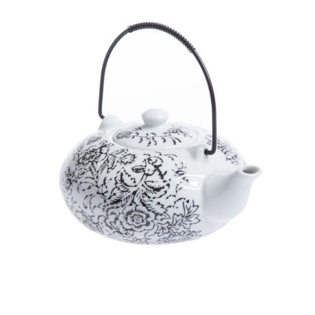 Teapot – Black & White from Eastern Tea Party - R139 (Save 0%)