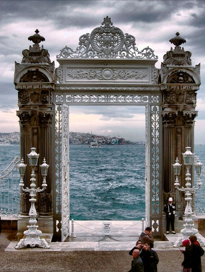Bosphorus through the waterside gates of Dolmabahçe Palace-Istanbul By Monica Enne
