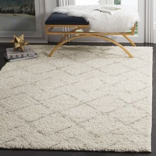 Shop for Safavieh Arizona Shag Southwestern Ivory / Beige Rug (9' x 12'). Get free shipping at Overstock.com - Your Online Home Decor Outlet Store! Get 5% in rewards with Club O!