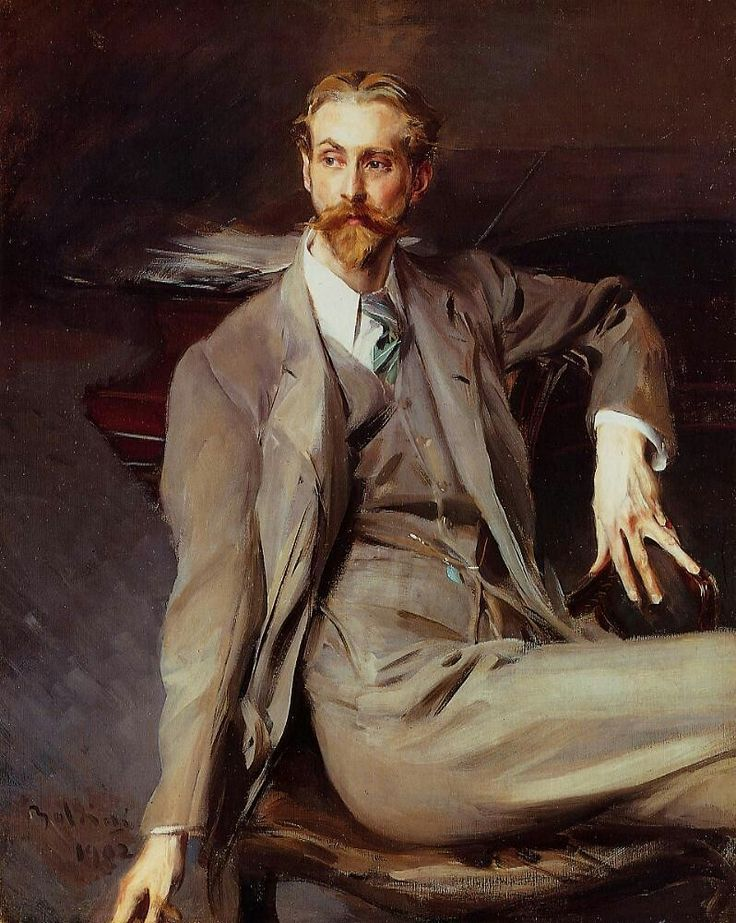 Portrait of the Artist Lawrence Alexander Peter Brown, 1902, Giovanni Boldini. Italian (1842 - 1931)