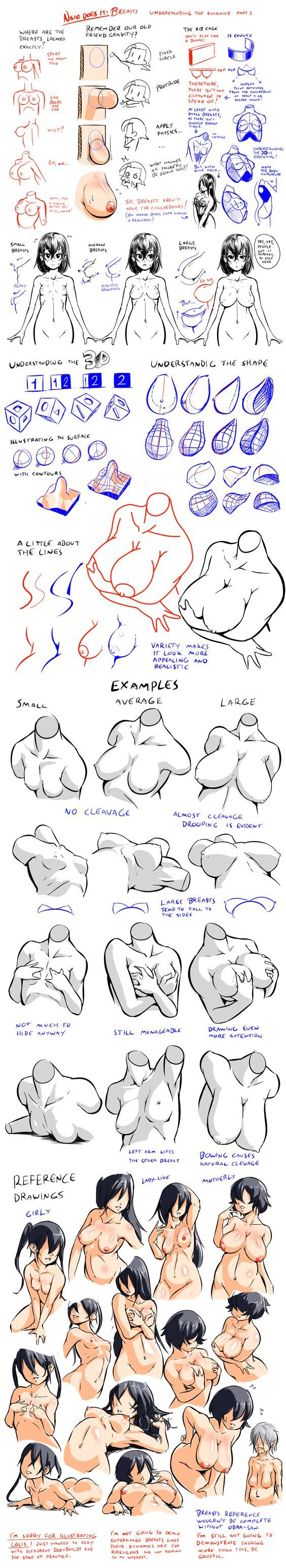 Breasts - Understanding the Dynamics 2 by Nsio on deviantART http://nsio.deviantart.com/art/Breasts-Understanding-the-Dynamics-2-376631488: