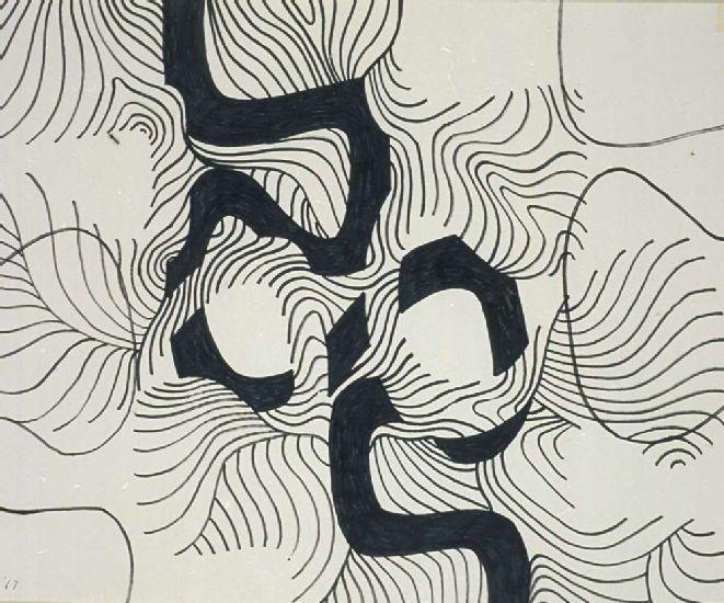 Bryan Wynter - Meander, 1967, felt tip, pentel pen