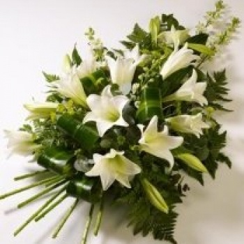 Funeral Spray with white lillies