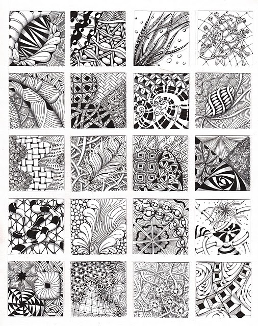 #ZentangleIdeas, Zen Tangled, Zentangle Art, Zentangle Doodles, Design, Drawing, Zentangle Patterns, 20 Minis