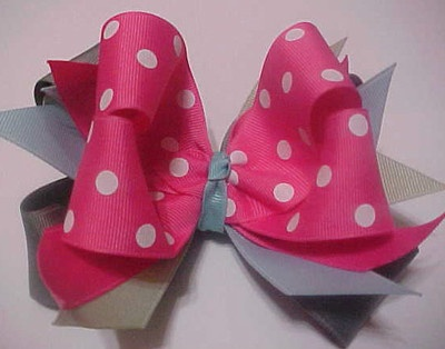 M2M Fairy Wishes Boutique Hair Bow Hot Pink White Polka Dot, Lt Blue, Grey, Sage $4.99 Buy 5 get one free of equal or lesser value, plus free shipping when you buy 3 or more within the U.S.