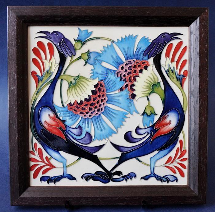 Moorcroft Pottery Tile of Smiles Emma Bossons http://www.bwthornton.co.uk/moorcroft.php