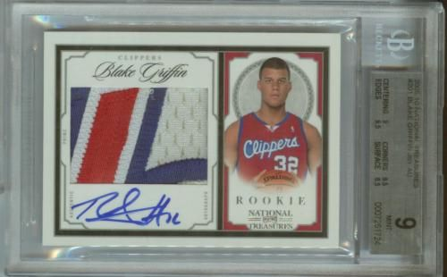 2009-10 National Treasures Rookie Blake Griffin 4Clr Patch Auto RC 97/99 BGS 9