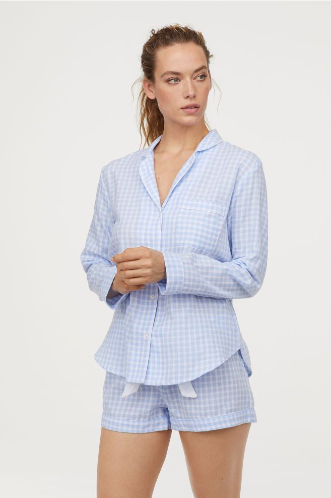 Pyjama shirt boho woman Ivory