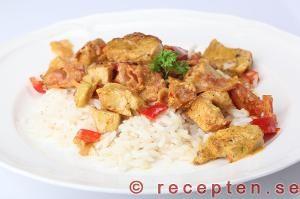 Recept på currykyckling