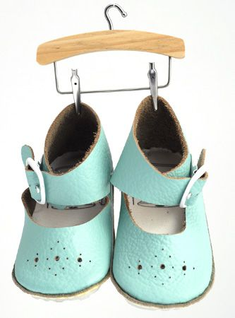 First Baby Shoes are perfect to take your little one through Spring and Summer. A sweet silhouette, beautiful colours such as that gorgeous mint and perforated toe detail make those little ballerina style booties perfect for very first steps!