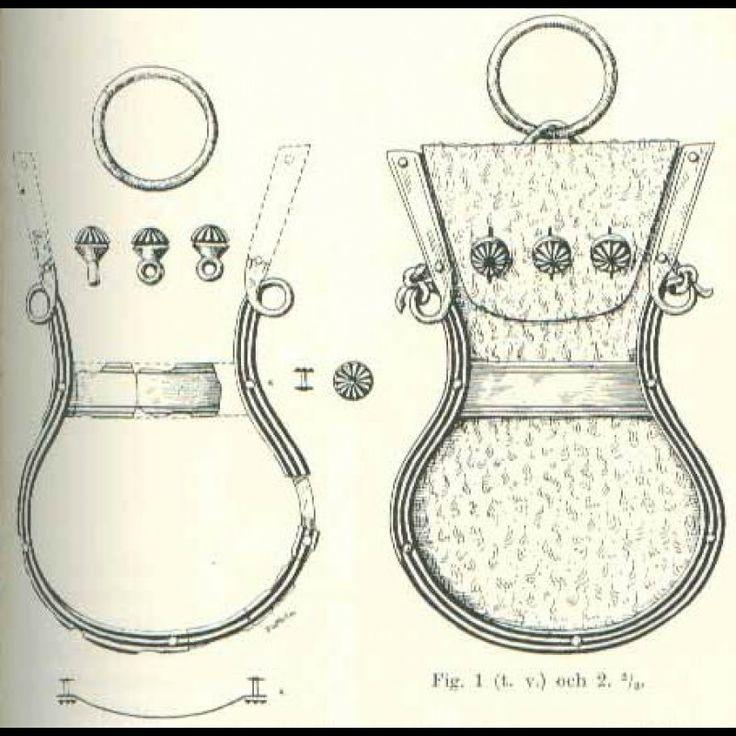 Viking coin purse from Birka