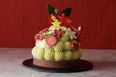 グラッシェルのクリスマス限定アイスケーキ、ツリーをイメージしたピスタチオケーキなど