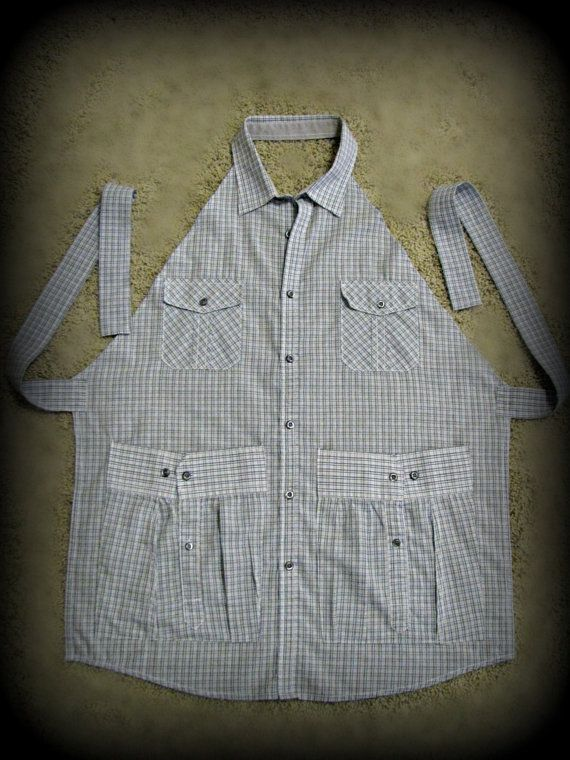 Custom Made Men's Shirt Apron from YOUR treasured piece of clothing, keepsake item, treasure to keepsake, memorial apron