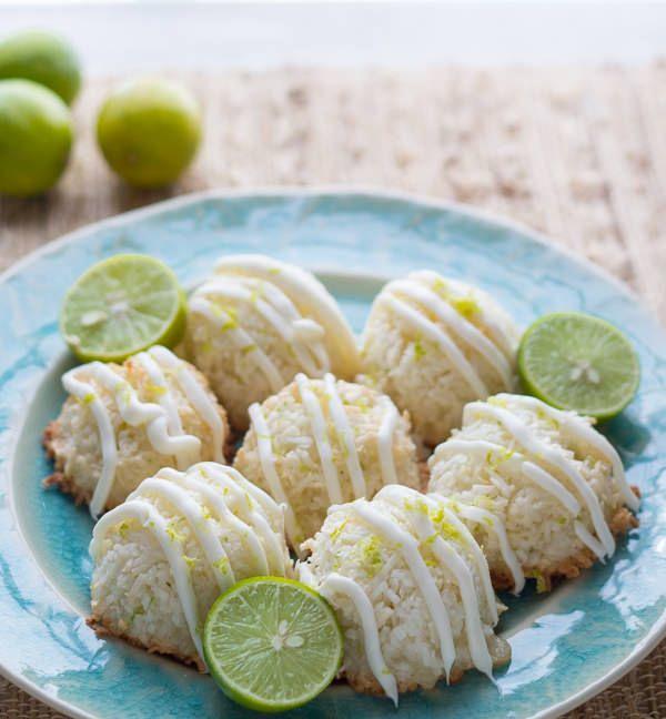 KEY LIME & WHITE CHOCOLATE COCONUT MACAROONS