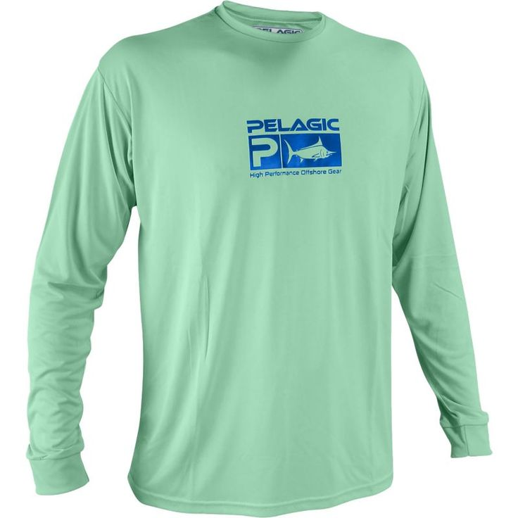 Pelagic Aquatek Long Sleeve Shirt, Men's, Size: Medium, Green