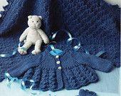 shawl matinee coat and shoes dk knitting pattern 99p