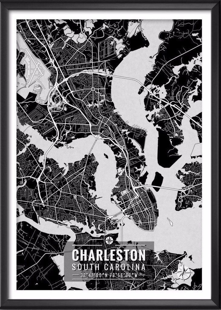 The 25 best charleston map ideas on pinterest charleston sc map charleston south carolina map with coordinates malvernweather Image collections