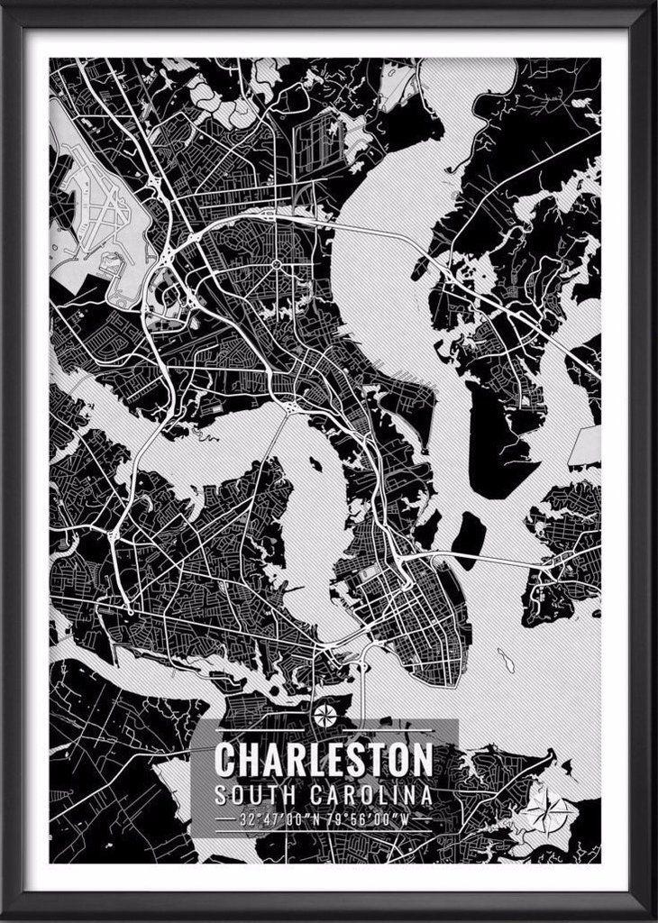 Charleston South Carolina Map with Coordinates 10