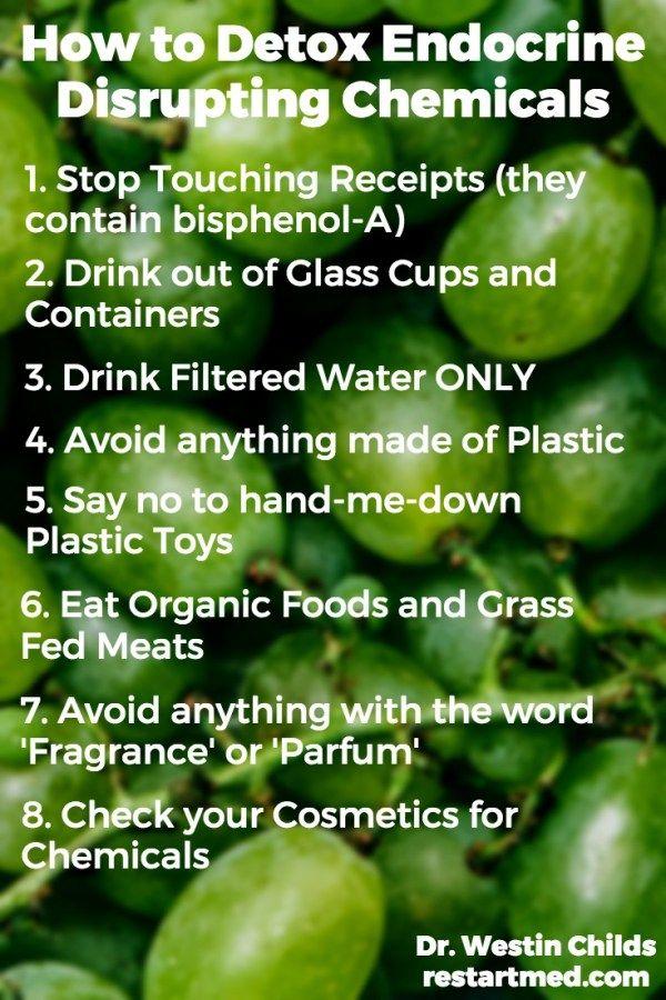 How to detox endocrine disrupting chemicals proper 1