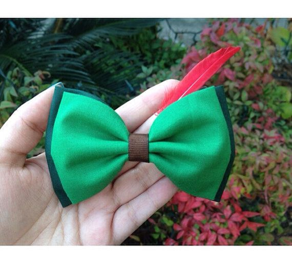 Peter Pan hair bow by TiedInaKnotBowtique on Etsy