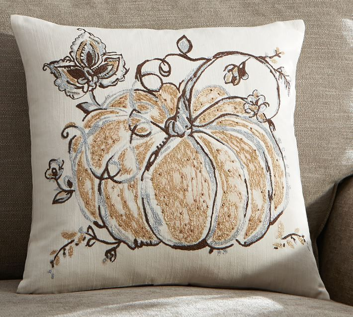 Pottery Barn Inspired Pumpkin Pillow