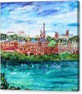 Georgetown Dc Potomac River View Canvas Print