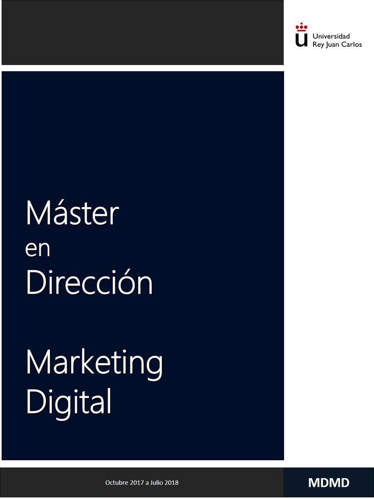 Este próximo mes de octubre 2017, comenzamos la II Edición del Máster en Dirección de Marketing Digital, en la URJC (Madrid). Os esperamos ¡¡