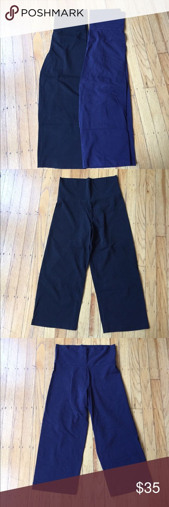 SALE 🌟 Bundle of GUC J Crew yoga capris Bundle of GUC J Crew yoga capris (one black and one navy) with waist that can be folded over. Please let me know if you have any questions and thanks for visiting my closet! J. Crew Pants Leggings