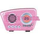 RETRO PINK RADIO PATCH