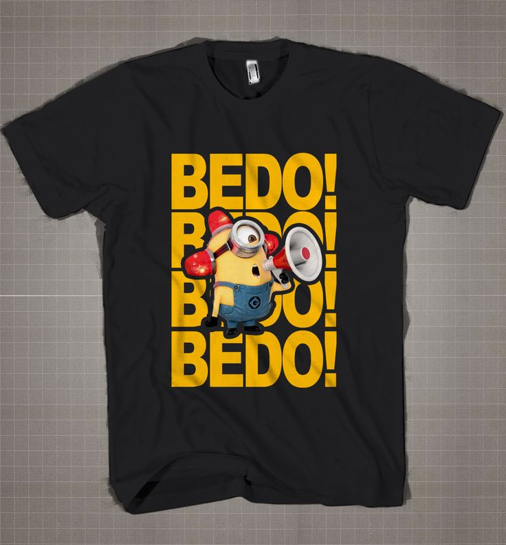 BEDO! BEDO! Minion Carl  Mens and Women T-Shirt Available Color Black And White