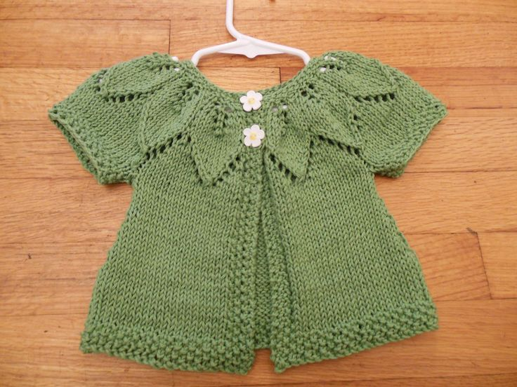 knitted baby sweater | this is such a cute little baby sweater!!!