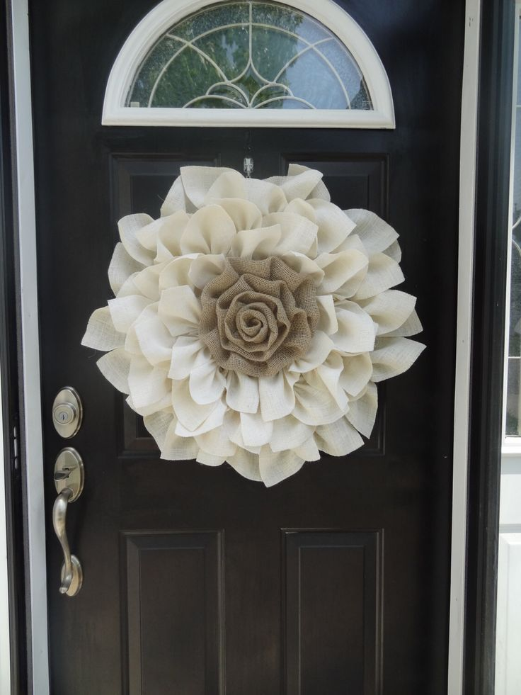 Make a statement with this Beautiful Large Burlap Flower Wreath!  Would be perfect for your front door or even a wedding!  Everyday wreath! by LovesHouseofBurlap on Etsy https://www.etsy.com/listing/230877014/make-a-statement-with-this-beautiful