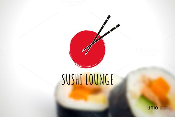 Sushi Logo by Unio | Creative Solutions on Creative Market