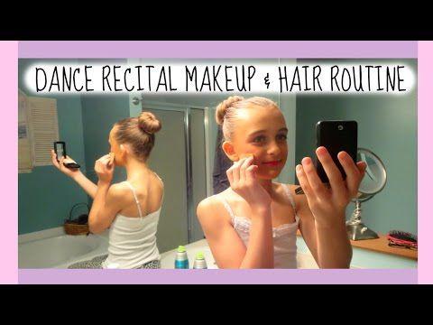 DANCE RECITAL HAIR & MAKEUP ROUTINE - YouTube