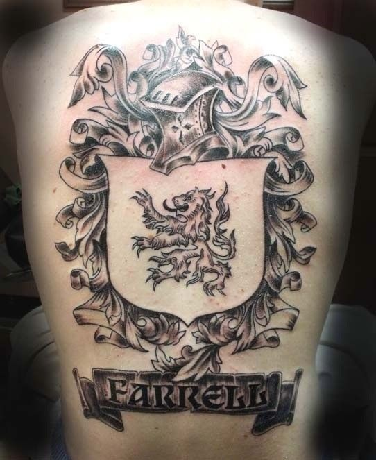 english coat of arms tattoo - photo #20