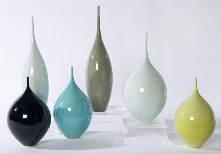 """Sophie Cook Vases """"POD"""" 1997 2003 porcelaine"""