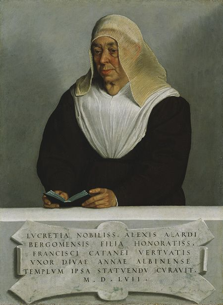 Abbess Lucrezia Agliardi Vertova, probably 1556 Giovanni Battista Moroni…