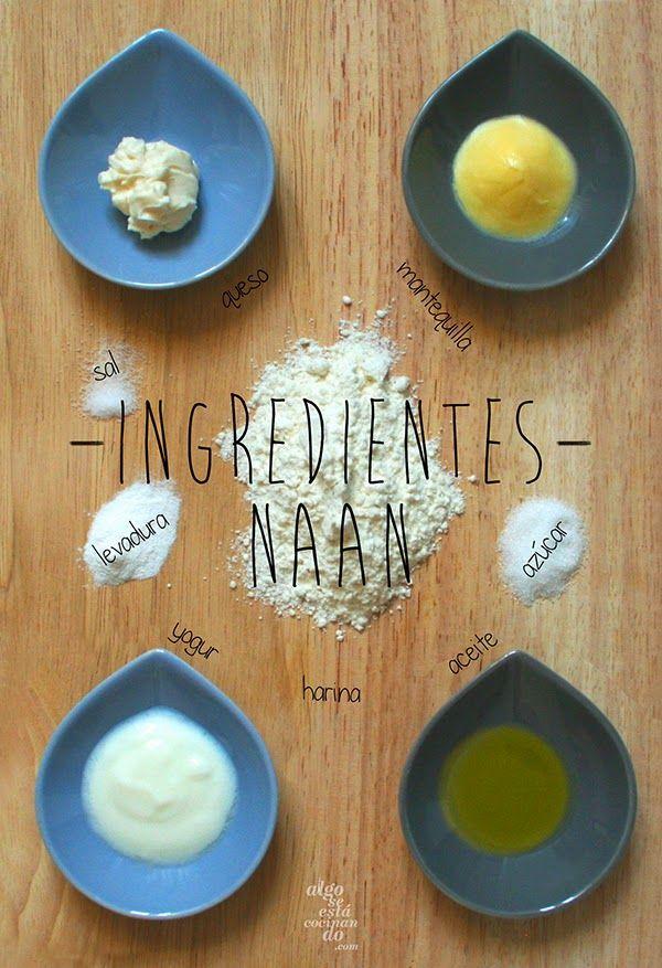Ingredientes para hacer naan