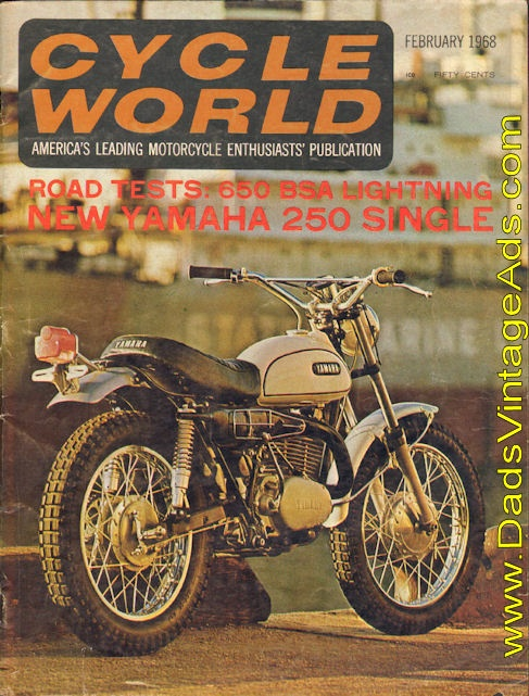 The exciting new 1968 Yamaha 250 DT1 Single
