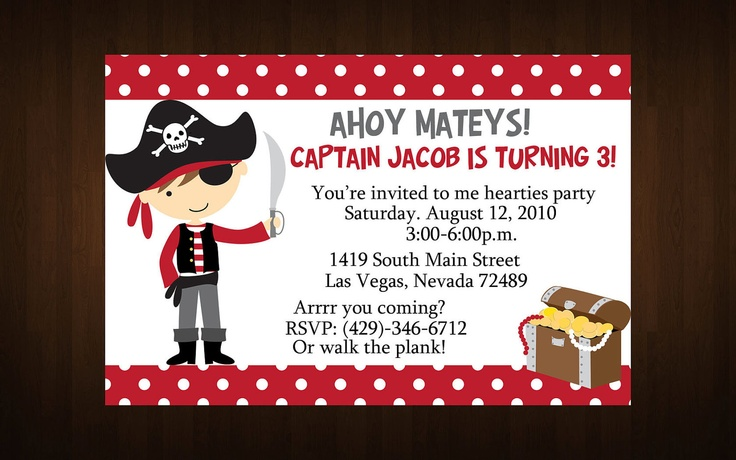 Arrr you coming? Rsvp or walk the plank.