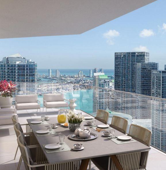 AQUATERRA: Espacio, luz, vistas espectaculares y lujo intransigente definen al proyecto ONE RIVER POINT… #SantiagoElegante_Aquaterra #SantiagoElegante #RealEstate #Miami