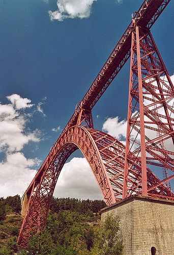 Viaduc de Garabit built by Gustave Eiffel, Cantal, France.