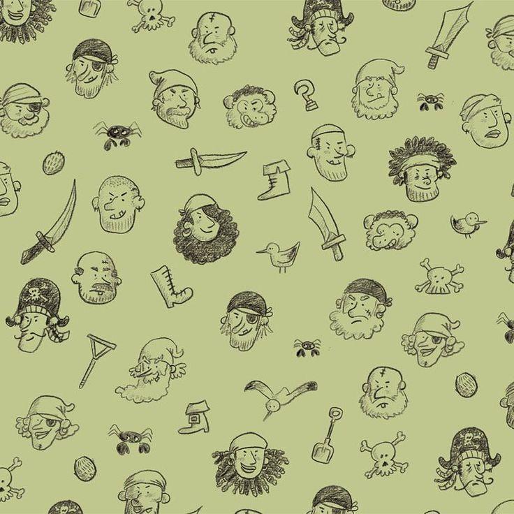 Motif de pirates !  (Pages intérieures de couverture de Sven le terrible - pas de vacances pour les pirates)    Pirates pattern !  (From #kidsbook Sven le terrible)    #motif #patern #pirate #illustration #jeunesse   #svenleterrible #orbieillustration @editionsles400coups